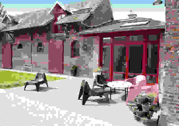 entrée de la maison revisitée Emilie Bigorne, architecte d'intérieur CFAI Jardin moderne