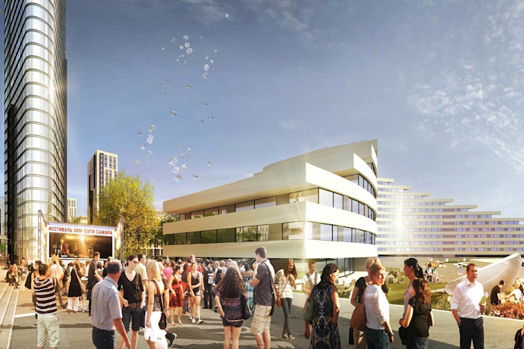 ЗИМ СИТИ Торговые центры в стиле модерн от db-arch studio Модерн