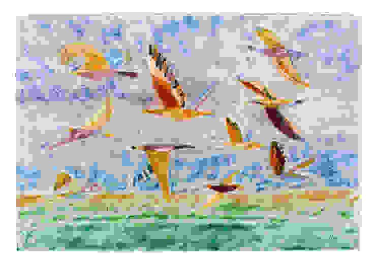 Полет Гостиная в средиземноморском стиле от Семь стекол Средиземноморский