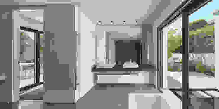 Projekty,  Łazienka zaprojektowane przez Fachwerk4 | Architekten BDA, Nowoczesny