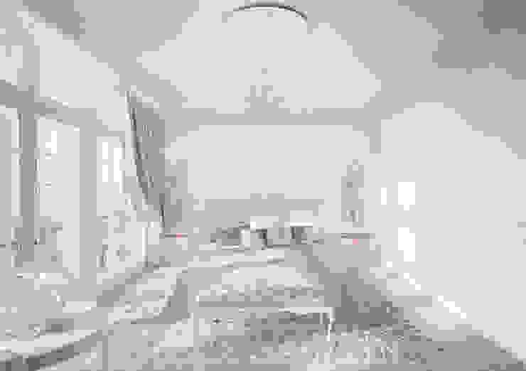 Пентхаус в ЖК Английский квартал Спальня в эклектичном стиле от FAOMI Эклектичный