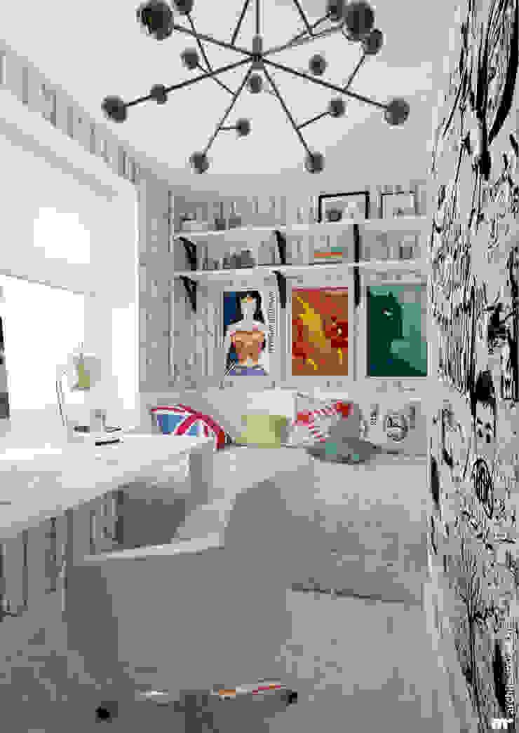 Детская старшего сына Детская комнатa в скандинавском стиле от Architectured - мастерская Маргариты Рассказовой Скандинавский