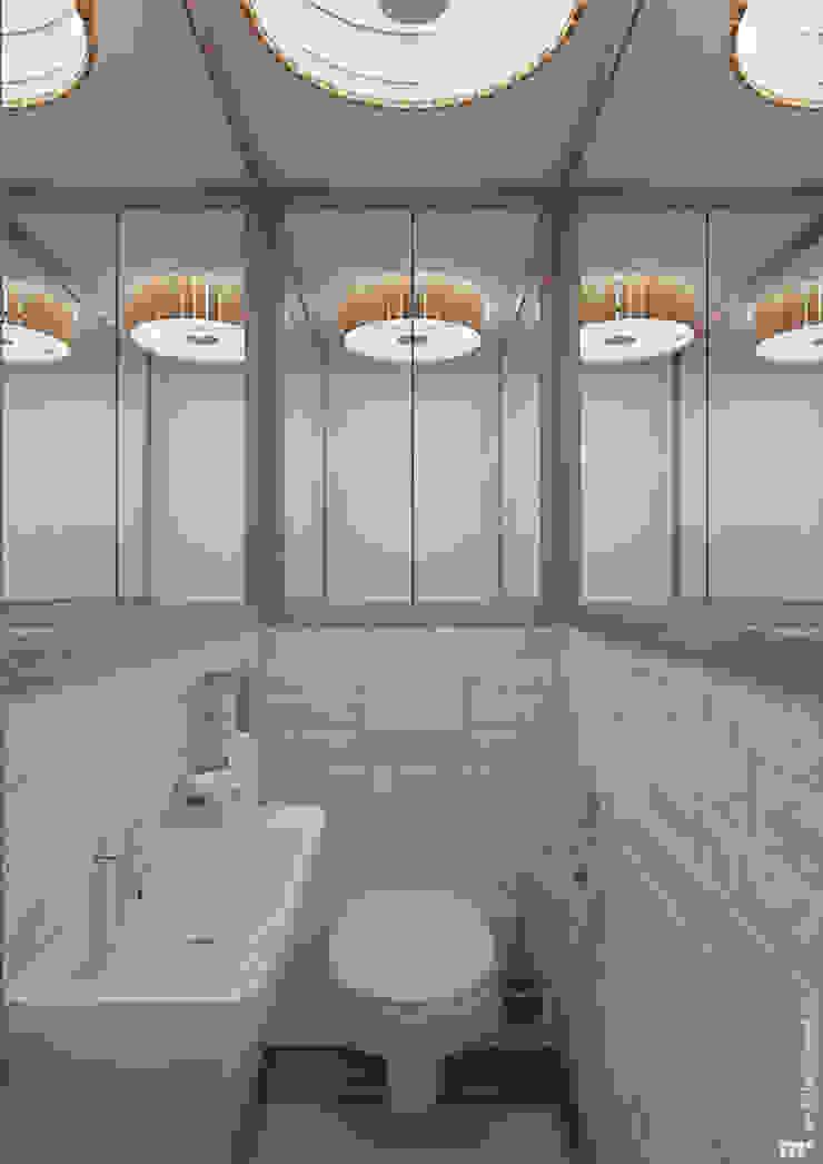 Санузел Ванная комната в скандинавском стиле от Architectured - мастерская Маргариты Рассказовой Скандинавский