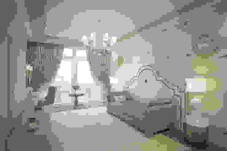 Пентхаус в ЖК Английский квартал FAOMI Спальня в эклектичном стиле