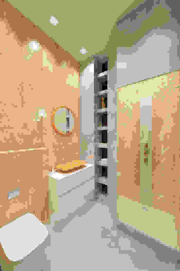 Квартира на ул. Гарибальди Ванная комната в эклектичном стиле от FAOMI Эклектичный