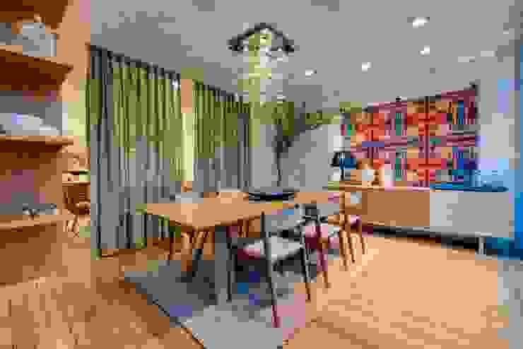 Sala de jantar moderna Lojas & Imóveis comerciais modernos por Marcia Debski Ferreira Designer de Interiores Moderno