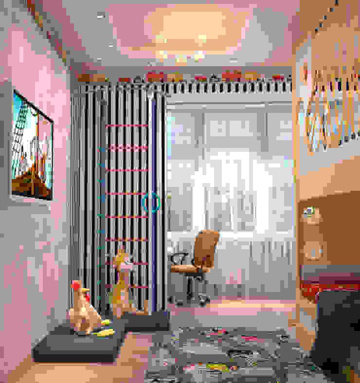 Сказочная детская с сырным домиком Детская комната в стиле модерн от Студия дизайна Interior Design IDEAS Модерн