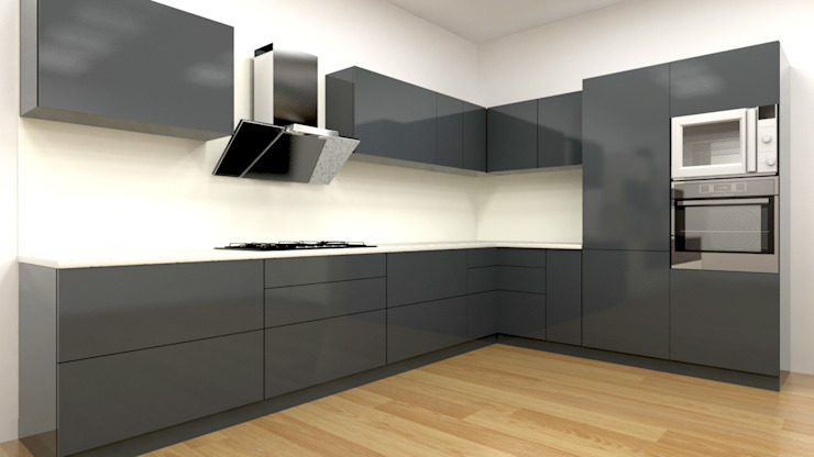 Dark grey: modern  by Classic Kitchen Pvt Ltd,Modern