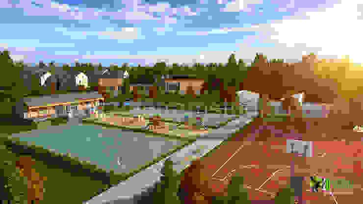 3D Residential Exterior Play Ground Design: modern  by Yantram Architectural Design Studio, Modern