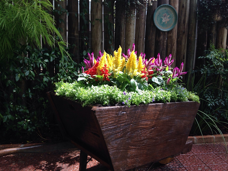 Projeto para um carrinho de flores Jardins rústicos por Casa Nova Paisagismo Rústico