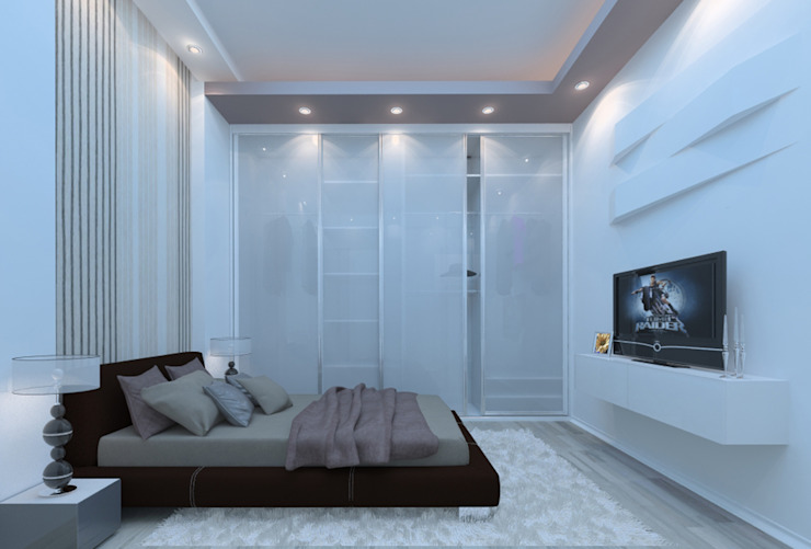 Квартира на Ленинградском проспекте Спальня в эклектичном стиле от FAOMI Эклектичный