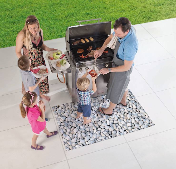 Tapis de protection barbecue STONE par ITAO Moderne