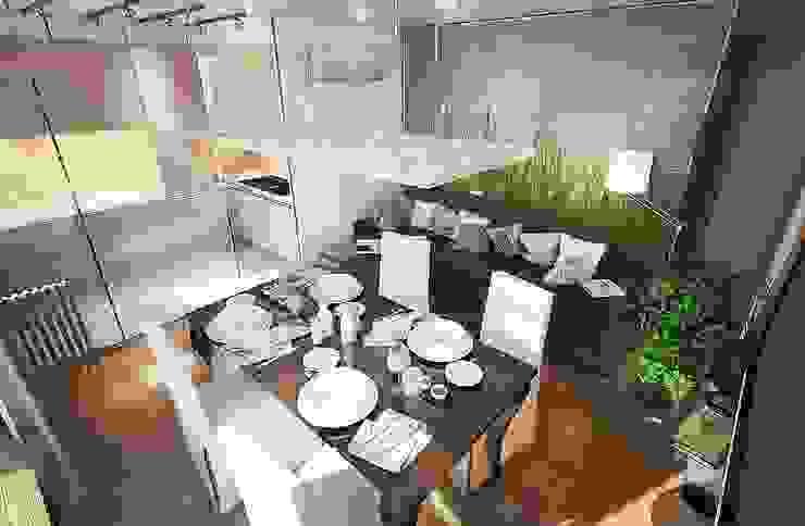 Квартира для большой семьи Столовая комната в эклектичном стиле от Дизайн-бюро Анны Шаркуновой 'East-West' Эклектичный