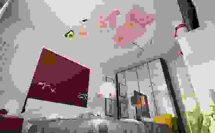 Квартира для большой семьи Спальня в эклектичном стиле от Дизайн-бюро Анны Шаркуновой 'East-West' Эклектичный