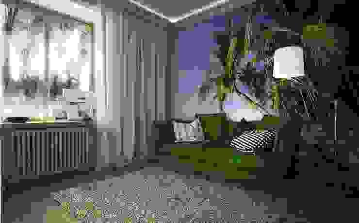 Квартира для большой семьи Гостиные в эклектичном стиле от Дизайн-бюро Анны Шаркуновой 'East-West' Эклектичный