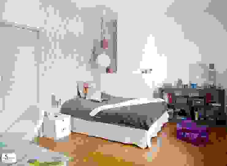 Habitaciones para niños de estilo moderno de Emilie Bigorne, architecte d'intérieur CFAI Moderno