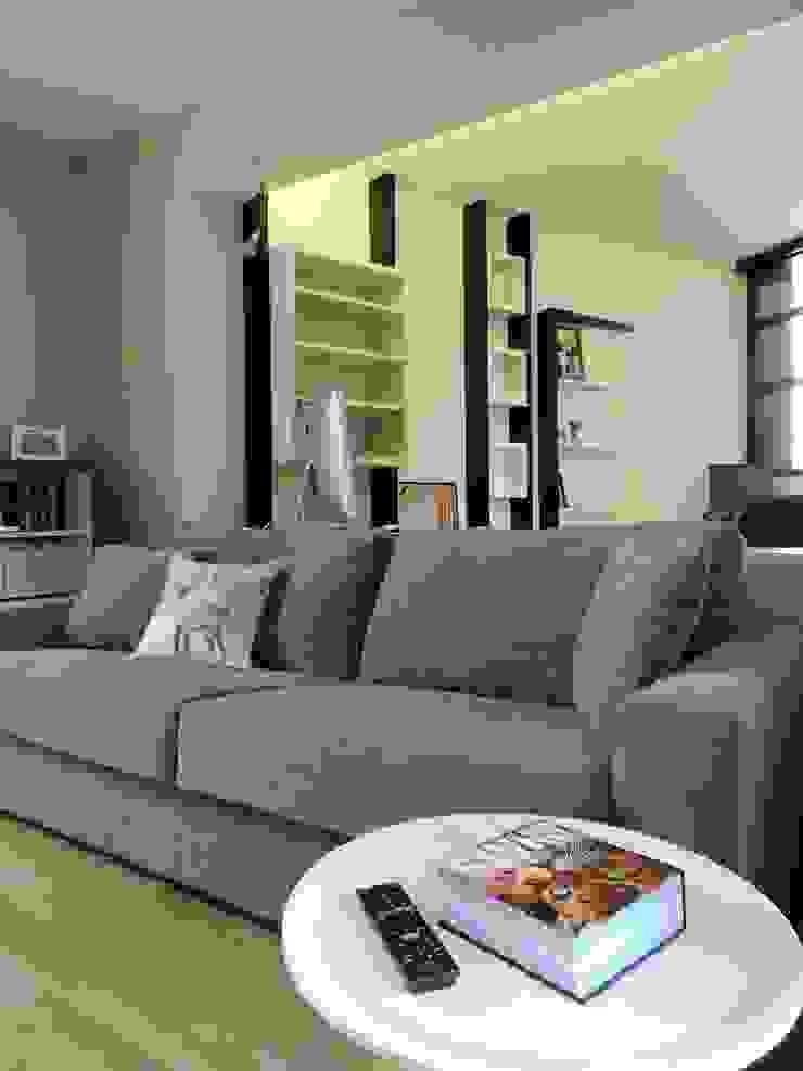 un espace multimédia pouvant servir de chambre d'amis Salle multimédia moderne par Emilie Bigorne, architecte d'intérieur CFAI Moderne