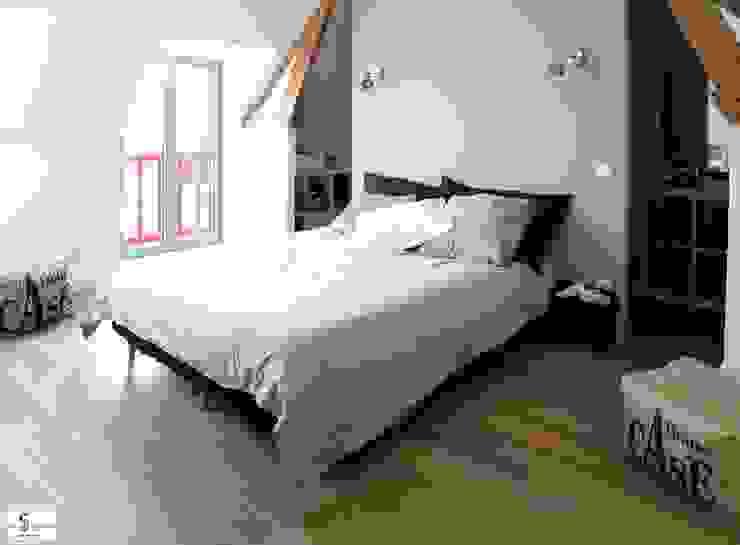création d'une suite parentale Chambre moderne par Emilie Bigorne, architecte d'intérieur CFAI Moderne