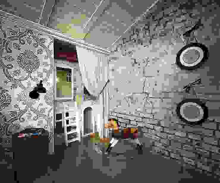 Mediterranean style bedroom by Дизайн-бюро Анны Шаркуновой 'East-West' Mediterranean
