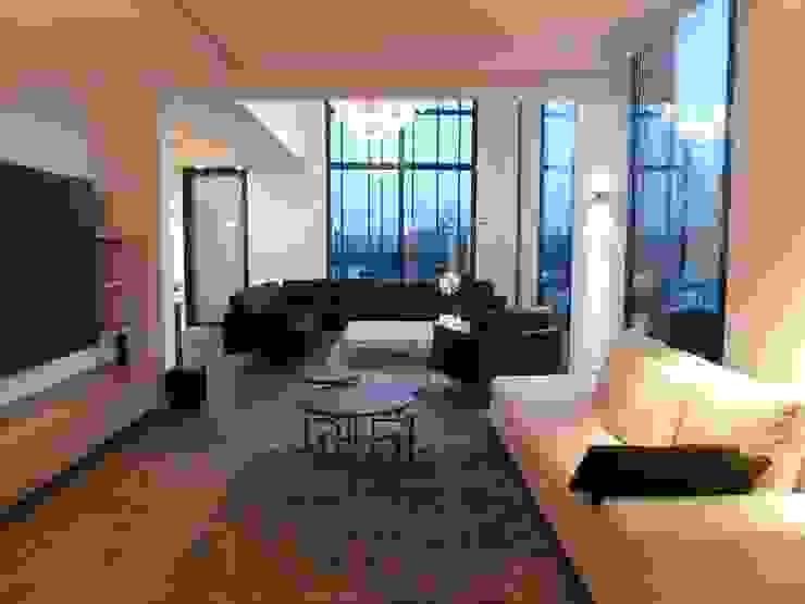 les salons Salon minimaliste par Emilie Bigorne, architecte d'intérieur CFAI Minimaliste