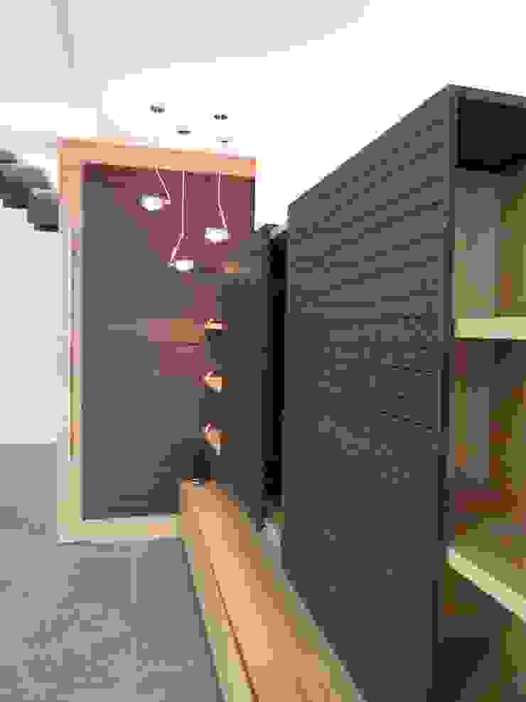 mobilier sur mesure Salon minimaliste par Emilie Bigorne, architecte d'intérieur CFAI Minimaliste