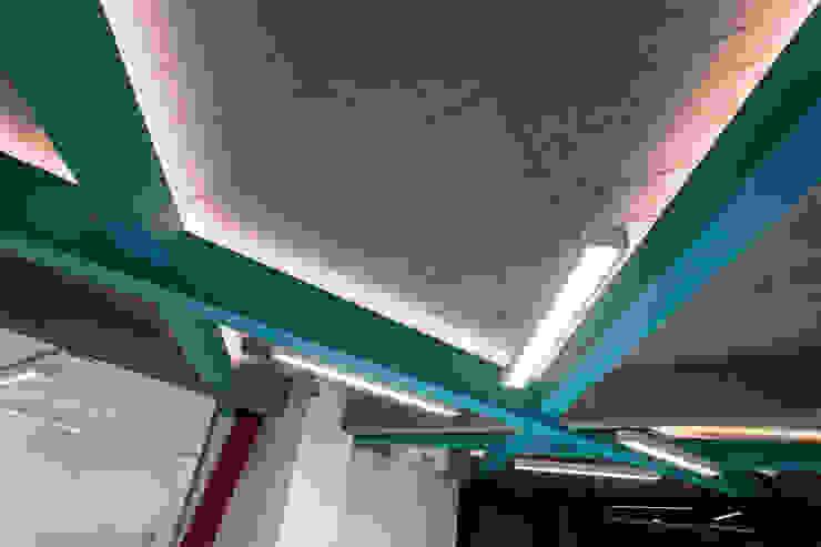 Estudio Sespede Arquitectos Office spaces & stores Metal Turquoise
