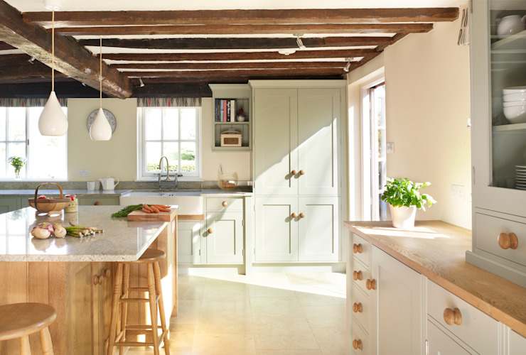 Painted and Oak Cuisine rurale par Rencraft Rural Bois Effet bois