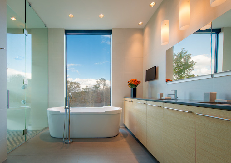 4 Springs Lane Robert Gurney Architect Modern Banyo