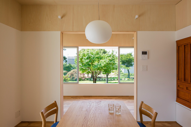 House in Hashie オリジナルデザインの ダイニング の 矢内建築計画 一級建築士事務所 オリジナル