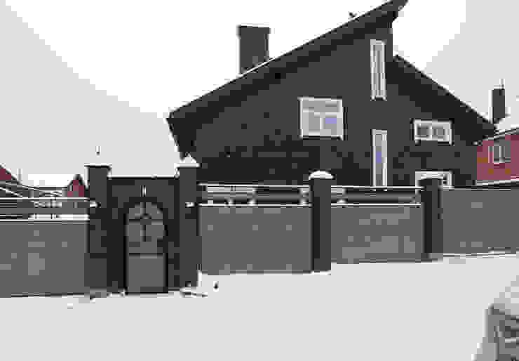 Вид на фасад с улицы Дома в эклектичном стиле от ORT-interiors Эклектичный