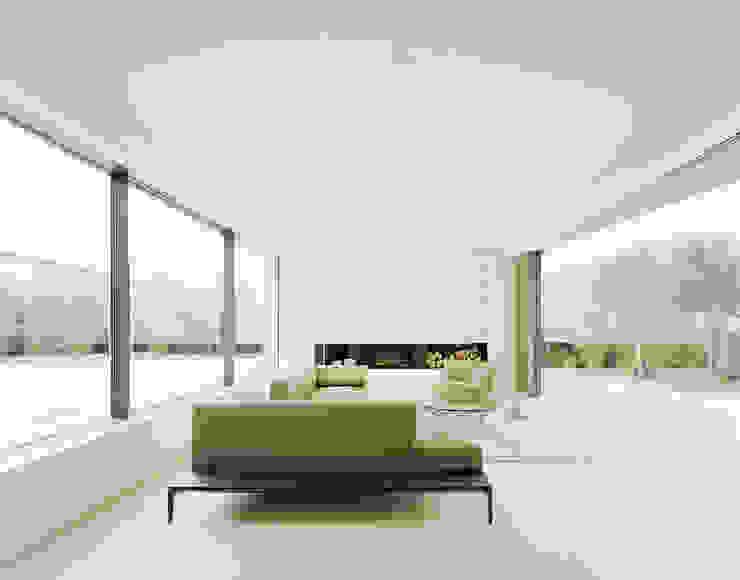 S3 CITYVILLA Minimalistische Wohnzimmer von steimle architekten Minimalistisch