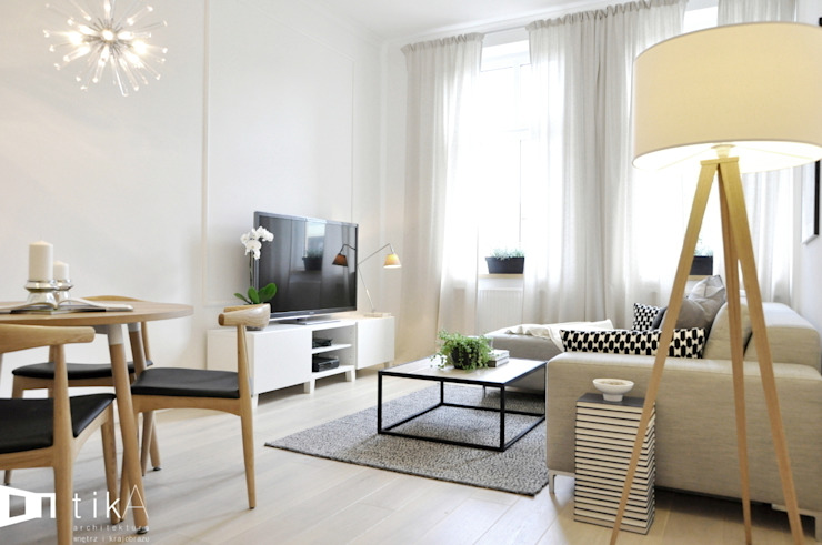 Salas de estar escandinavas por TIKA DESIGN Escandinavo