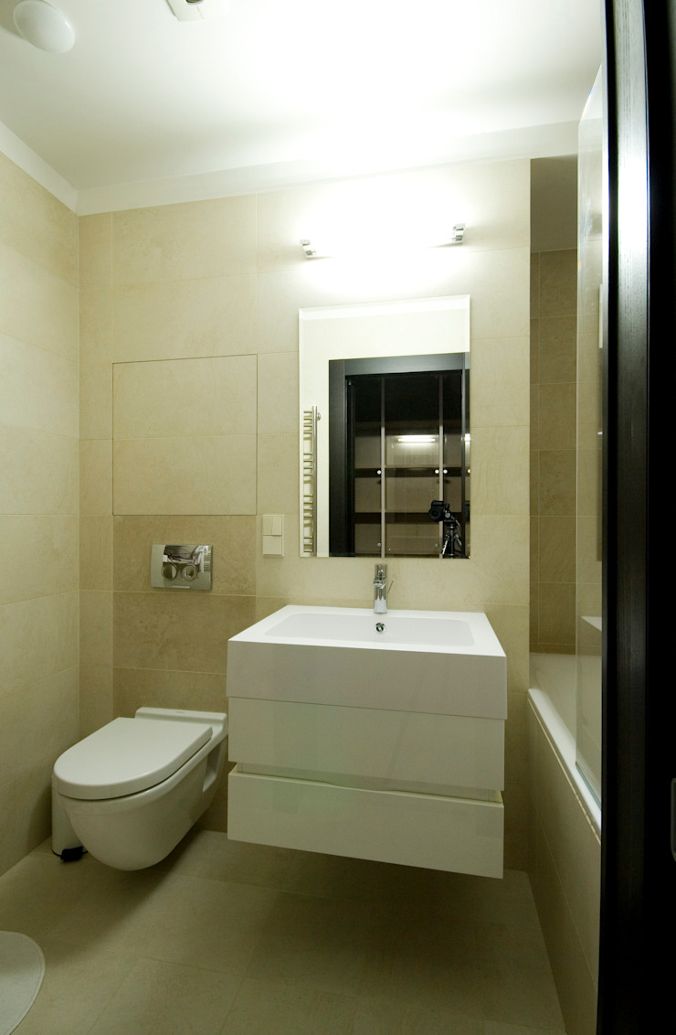 Ванная комната Ванная комната в стиле минимализм от ORT-interiors Минимализм