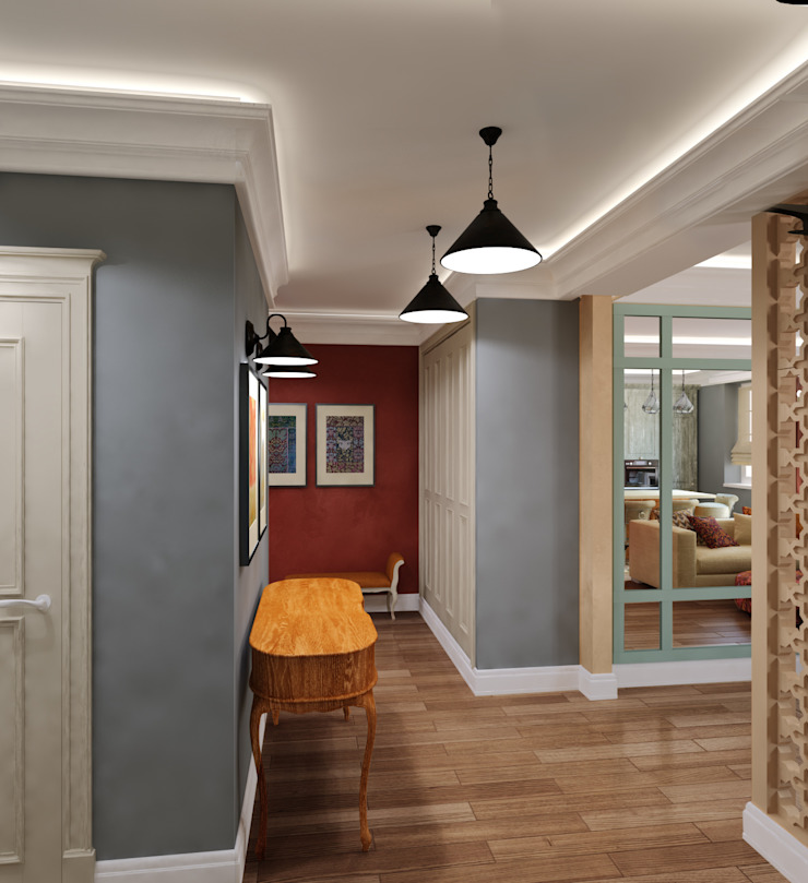 Eclectic style corridor, hallway & stairs by Сидорова Юлия Eclectic