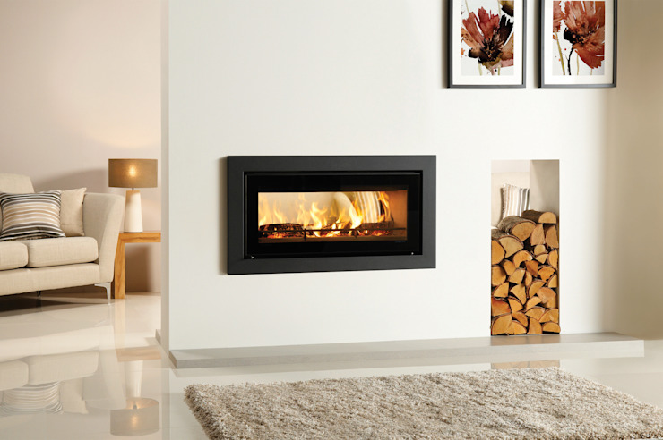 Riva Studio Duplex Fire por Stovax Heating Group Moderno
