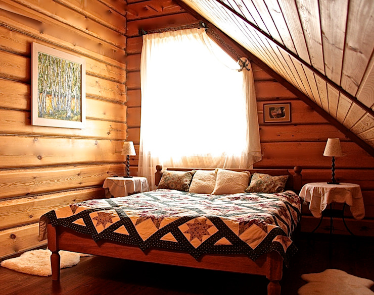 カントリースタイルの 寝室 の Анастасия Муравьева カントリー