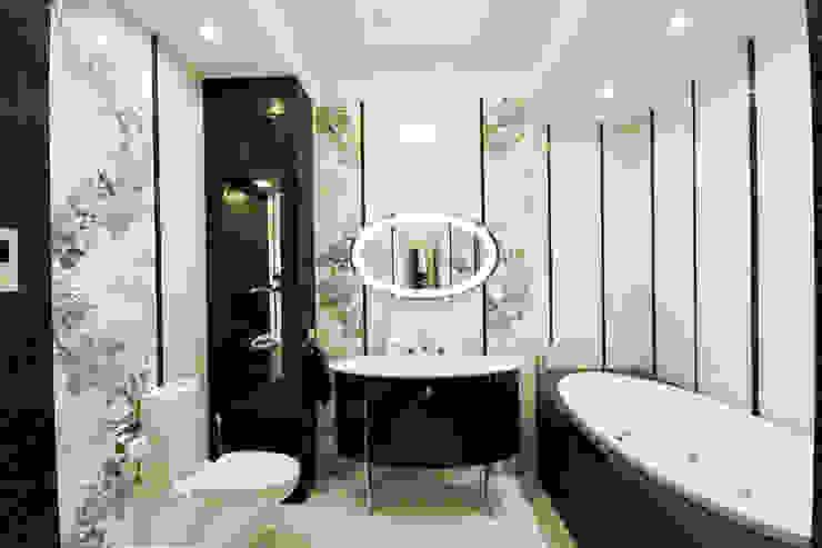 Черно-белая ванная комната Ванная в классическом стиле от ORT-interiors Классический