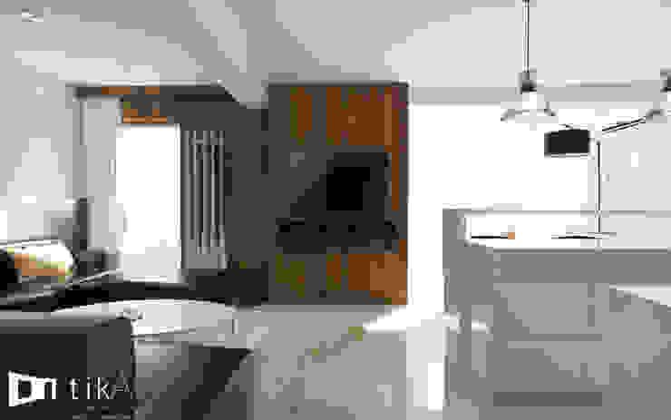 Wnętrze apartamentu, Kęty Nowoczesny salon od TIKA DESIGN Nowoczesny