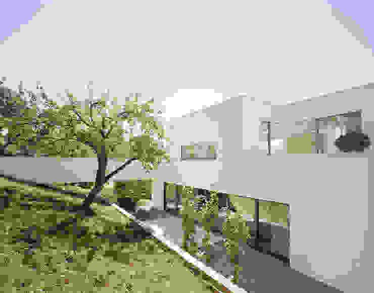 Moderne balkons, veranda's en terrassen van steimle architekten Modern