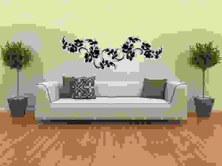 Wandtattoo Blumenranke Nr.130 Moderne Wände & Böden von Wandmotiv24 GmbH Modern