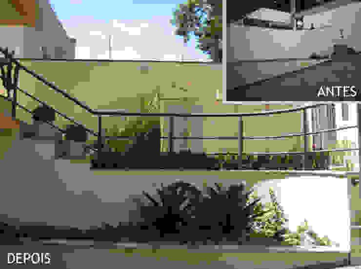 Jardim entrada - garagem Projetual Arquitetura
