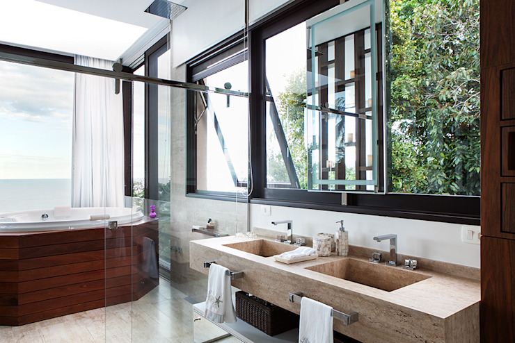 Modern bathroom by Infinity Spaces Modern