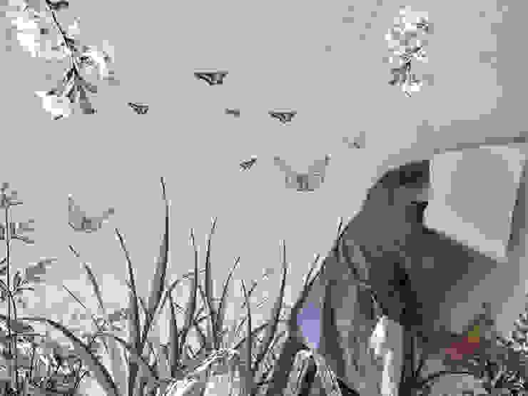 Panorama-Motiv Dschungel mit Papageien von Gaedke Tapeten Asiatisch