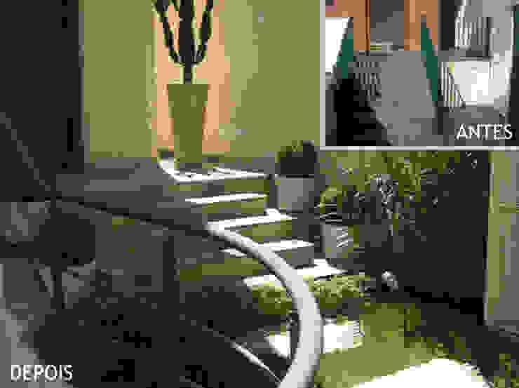Escada de acesso principal - entrada da casa Projetual Arquitetura