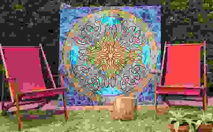 Cuadro de tela india multicolor de Buena Pieza (Objetos decorativos) Asiático