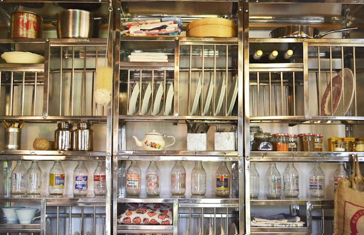 Stainless steel plate racks The Plate Rack CocinaEstanterías y gavetas