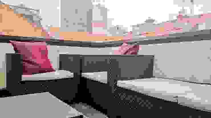 Terraza Balcones y terrazas de estilo minimalista de KM Arquitectos Minimalista