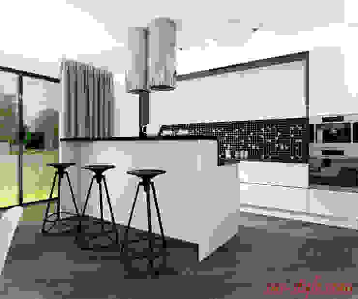 Загородный дом 160 м.кв Кухня в стиле минимализм от Студия Аксаны Ситниковой Минимализм