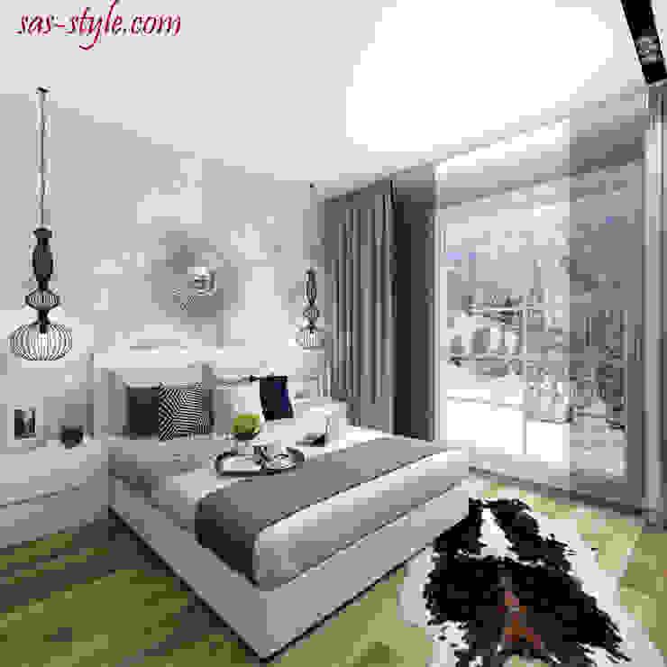 Загородный дом 160 м.кв Спальня в стиле минимализм от Студия Аксаны Ситниковой Минимализм