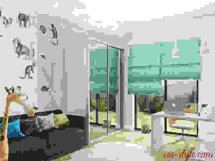 Загородный дом 160 м.кв Детская комнатa в стиле минимализм от Студия Аксаны Ситниковой Минимализм